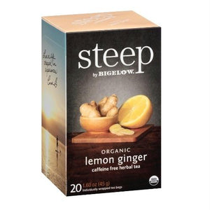 Bigelow Steep Organic Lemon Ginger Tea (6x20 Bag )