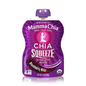 Mamma Chia Squeeze Blackberry Bliss (16x3.5 Oz)