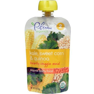 Plum Organics Hearty Veggie Meal, Stage 2, Kale, Sweet Corn & Quinoa (6x3.5 Oz)