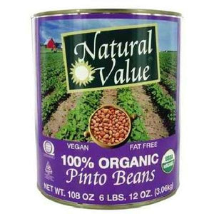Natural Value Pinto Beans (6x108oz )