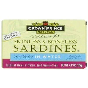 Crown Prince Srdn-water Skn-bnls (12x4.37oz )