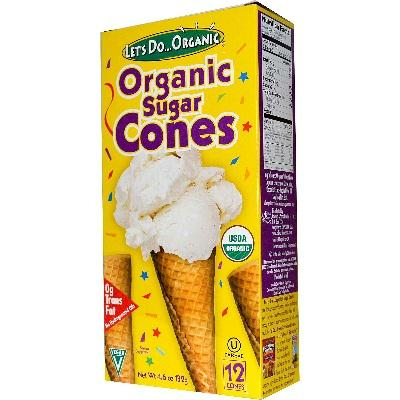 Let's Do...orgainc Sugar Cones (12x4.6oz )