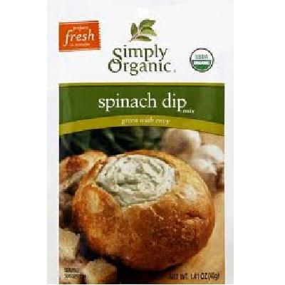 Simply Organic Spinach Dip Mix (12x1.41oz )