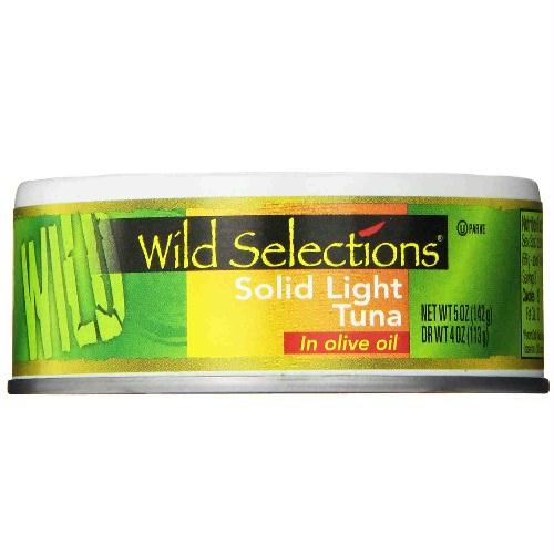 Wild Selections Solid Light Tuna In Olive Oil (12x5 Oz)