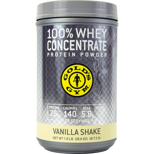 Golds Gym Performance Powders 100% Whey Protein Vanilla Shake - Gluten Free