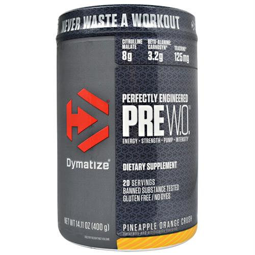 Dymatize Pre W.O. Pineapple Orange Crush - Gluten Free