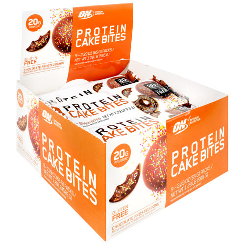 Optimum Nutrition Protein Cake Bites Chocolate Frosted Donut - Gluten Free