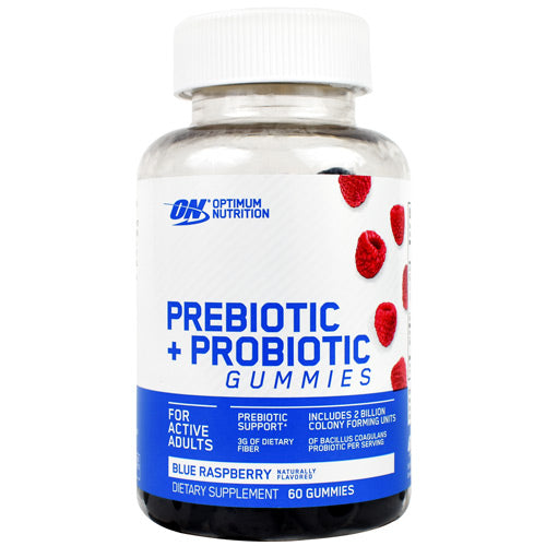 Optimum Nutrition Prebiotic + Probiotic Gummies Blue Raspberry