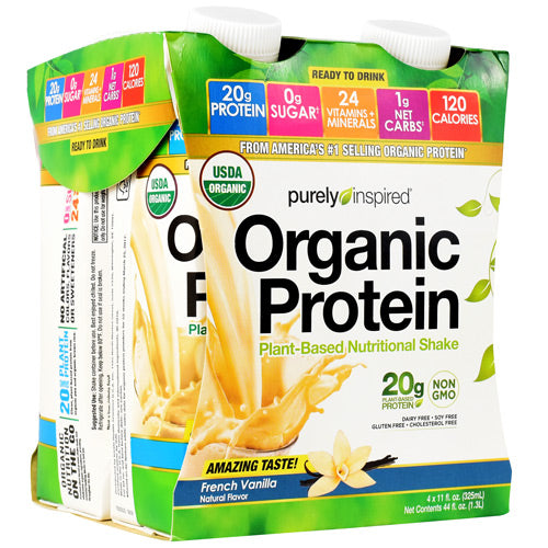 Iovate Purely Inspired Organic Protein RTD French Vanilla - Gluten Free