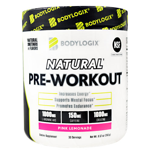 BodyLogix Natural Pre-Workout Pink Lemonade - Gluten Free