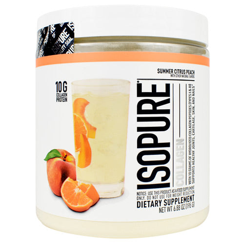 Nature's Best Isopure Collagen Summer Citrus Peach - Gluten Free