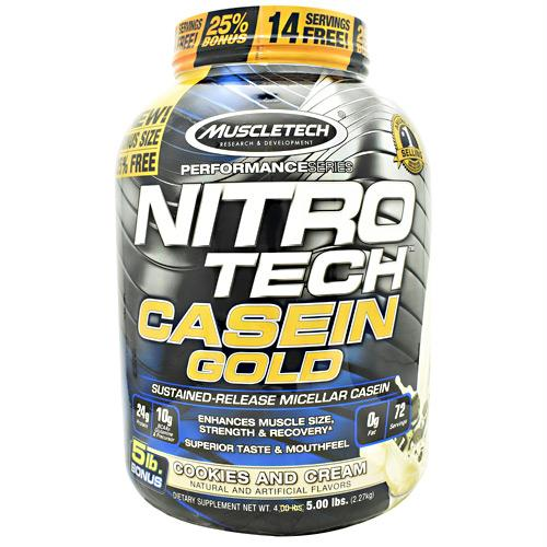 Muscletech Performance Series Nitro Tech Casein Gold Cookies and Cream