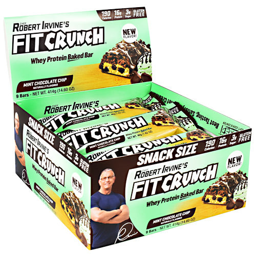 Fit Crunch Bars Snack Size Fit Crunch Bar Mint Chocolate Chip - Gluten Free
