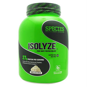 Species Nutrition Isolyze Vanilla Ice Cream - Gluten Free