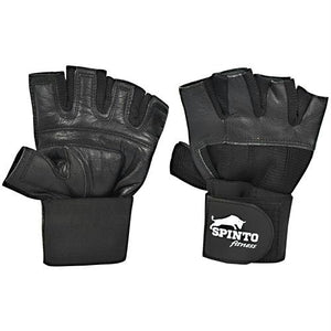 Spinto USA, LLC Men's Weight Lifting Gloves with Wrist Wraps Black, (XL)