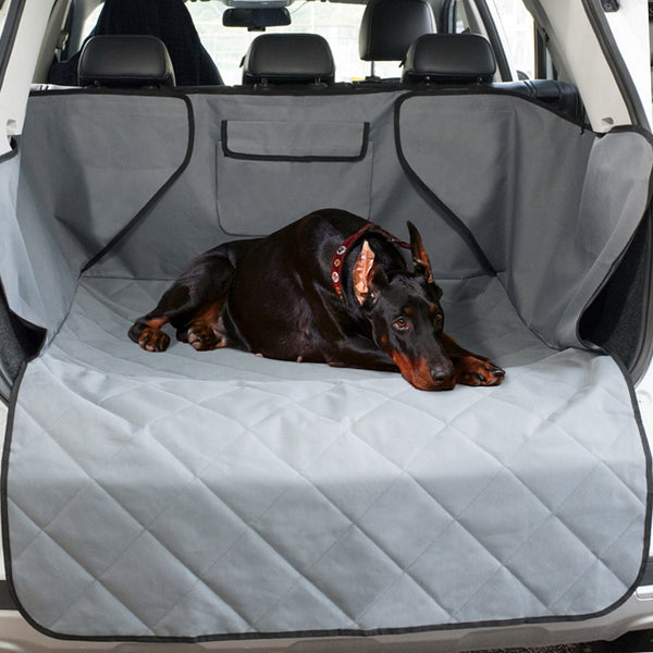 GLCC Pet Dog Cat Car Rear Back Seat Carrier Cover Mat Blanket Waterproof Trunk Mat  Dog Car Seat Cover for SUV Dog Car Trunk Mat