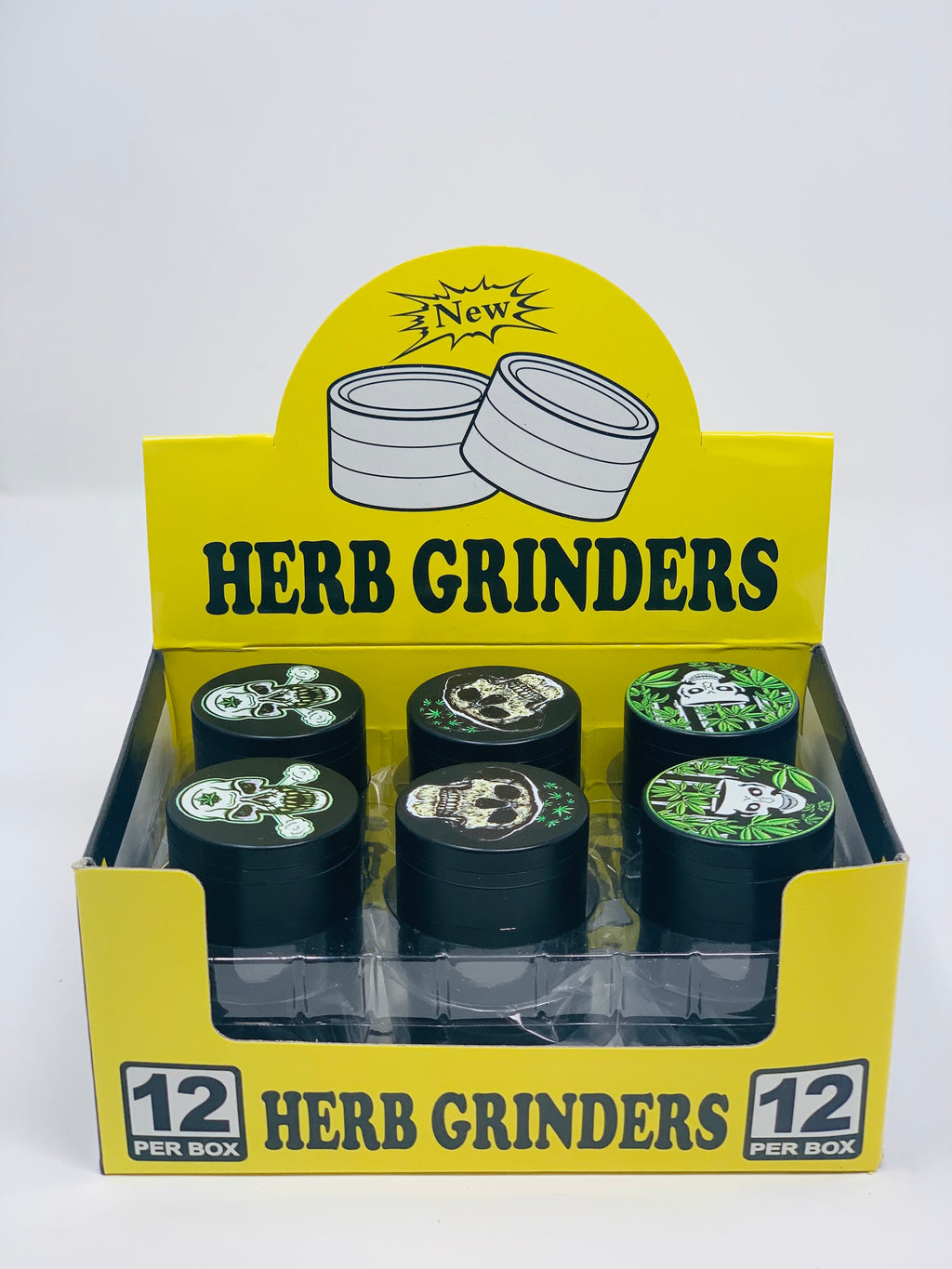 HERB GRINDERS SKULLTONE 42MM 12 COUNT