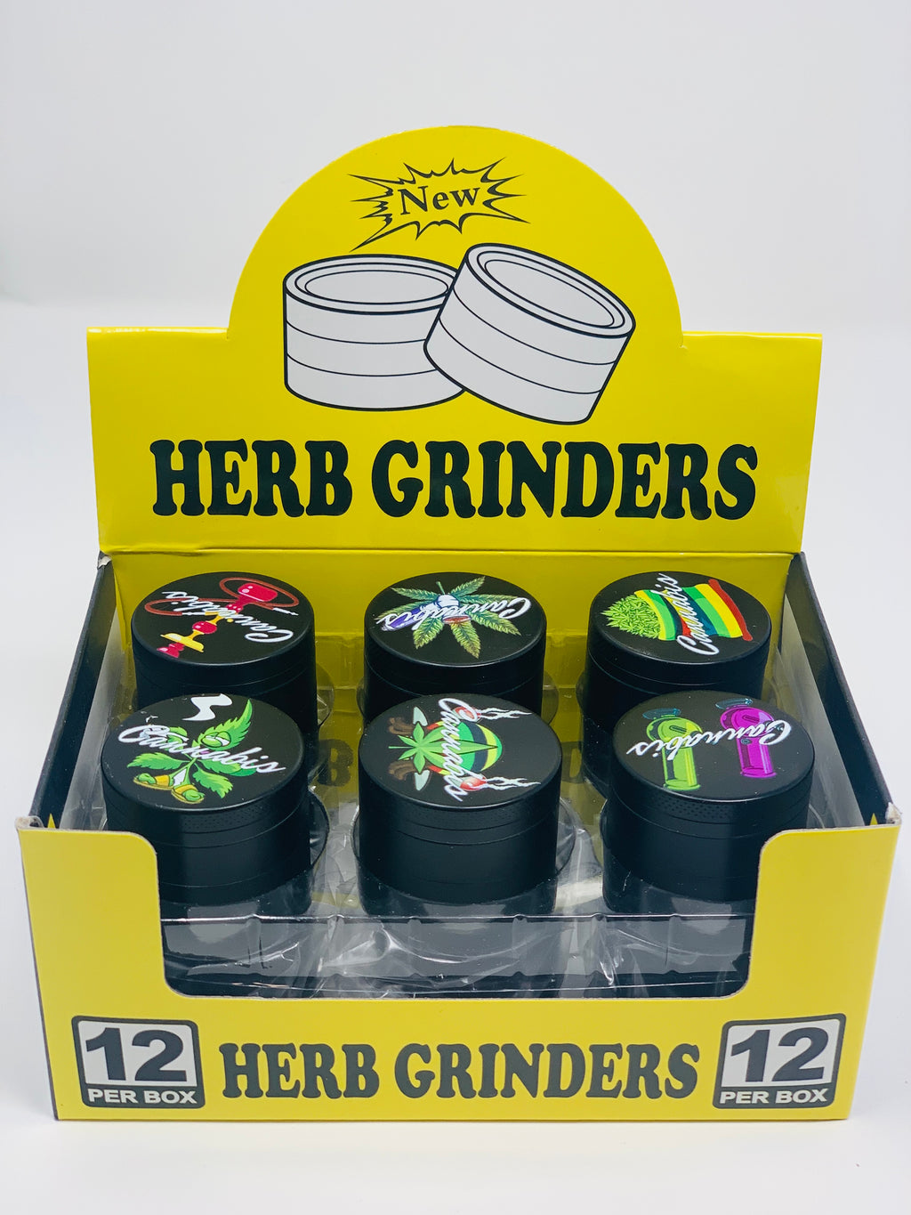 HERB GRINDERS 42MM 12 COUNT PER BOX