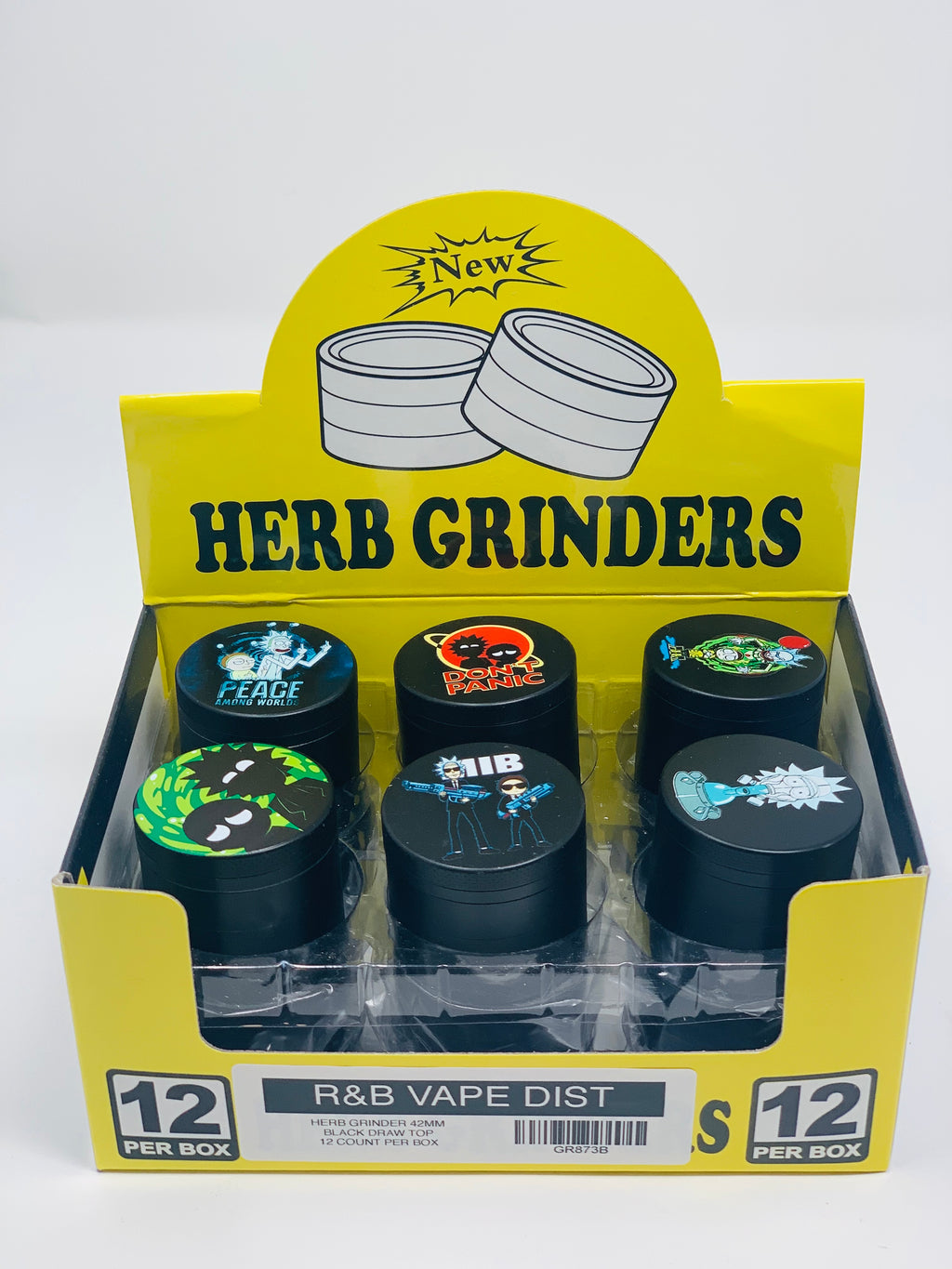 RICKY MORTY TOBACCO GRINDER 42MM 12 COUNT