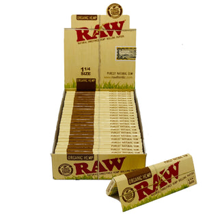 RAW ORGANIC SIZE 1/4 24 COUNT PER BOX