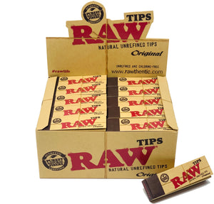 RAW ORIGINAL TIPS  50 CONUT PER BOX