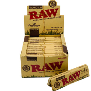 RAW ORGANIC KING SIZE  CONNOISSEUR PAPERS+TIPS 24 COUNT PER BOX