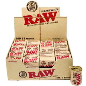 RAW HEMPWICK 10FT 40 COUNT PER BOX