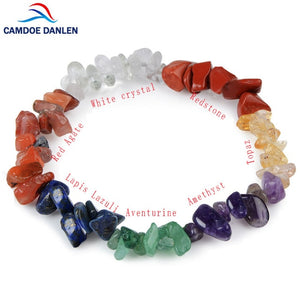 11 Design 7 Chakra Healing Crystals Natural Stone Chips Single Strand Women Bracelets Lazuli Reiki Gravel Bracelets For Women