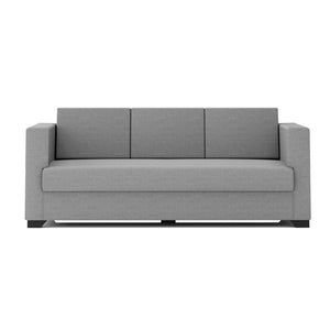 FURNITURE MAMA Adige Fabric 3 + 1 + 1 Grey Sofa Set