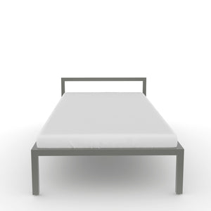Congo  Single bed in Dove Grey Metal Finish