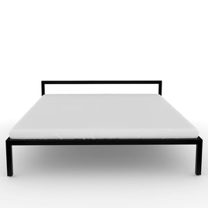 Congo  Queen Bed in Black Metal Finish