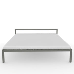 Congo  Queen Bed in Dove Grey Metal Finish