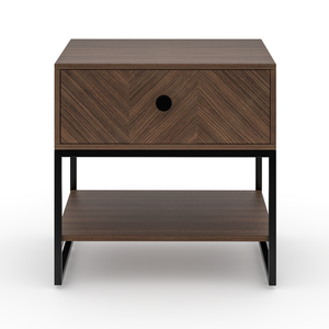 Sequoia Single Drawer Bedside table in Black Finish