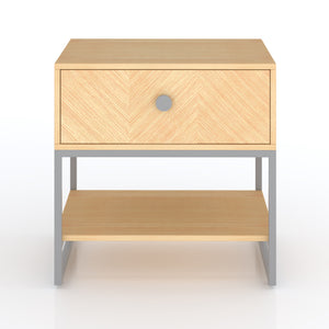 Sequoia Single Drawer Bedside table in Oak grey Finish