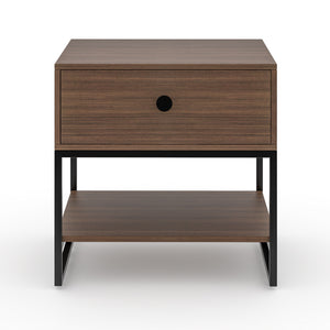 Congo Single Drawer Bedside table in Black Finish