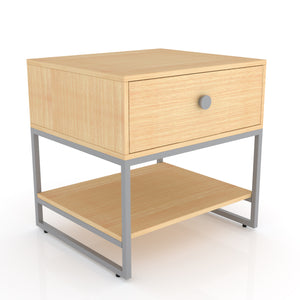 Congo Single Drawer Bedside table in Oak grey Finish
