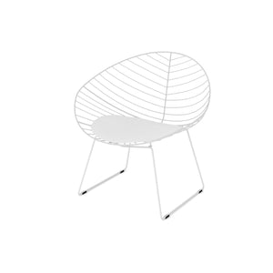 Faggio White Scandanavian Design Metal Wire Chair