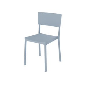 Abete Matt Light Blue Plastic Chair