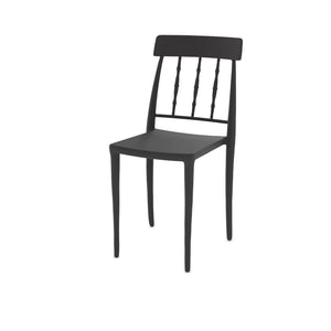 Pino Patio Black Plastic Chair