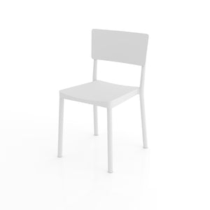 Abete Warm White Plastic Chair