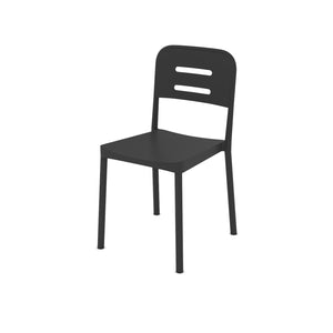 Acero Matt Black Plastic Chair