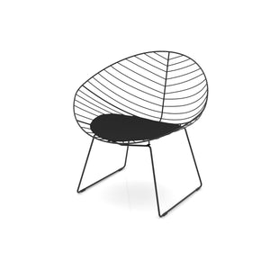 Faggio Black Scandanavian Design Metal Wire Chair