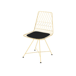 Mogano Subtle Gold Electroplated & Contrast Black Cushioned Seat
