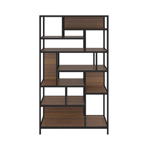 Jade Display unit with Metal frame (Breta walnut)