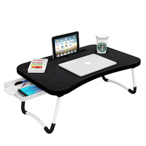 Sergio Multi-Purpose Laptop Table With Tray (Darkwood)