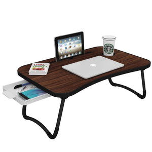 Sergio Multi-Purpose Laptop Table With Tray (Walnut)