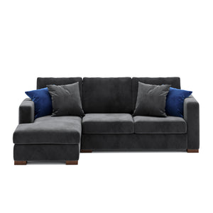 Calisto L Shaped Sofa 2 Seater in Gray Fabric Finish
