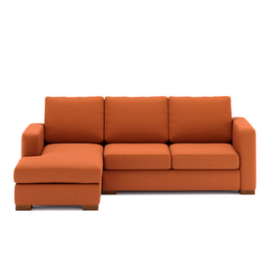 Calisto L Shaped Sofa 2 Seater in Brown Leatherette Finish
