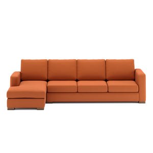 Calisto L Shaped Sofa 3 Seater in Maroon Leatherette Finish
