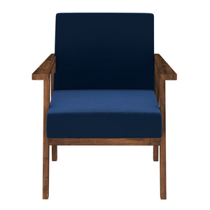 Alena  Sofa 1 Seater in Blue Solid Wood Finish
